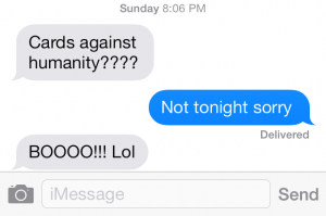 This text came from my brother
