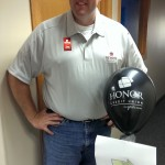 Greg Hildebrand at the 2014 Honor Credit Union Ribbon Cutting Negaunee Michigan