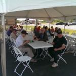 Enjoying a lunch at the 2014 Honor Credit Union Ribbon Cutting Negaunee Michigan
