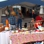 Vendors and artists at the Marquette Blueberry Festival.