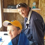 Negaunee Irontown Accociation Member Don Gladwell and his son Jackson.