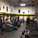 Gwinn students in the weight room at 7:30am for strength training.