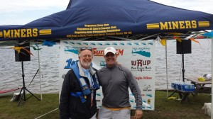 Teal Lake Paddle organizer Neil Lynch (left) along with Gary Perala (Right) of the Negaunee Lions