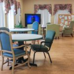The dining room at Norlite Nursing Center in Marquette.