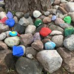 These rocks have all been painted by residents at Norlite.