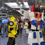Transformers Bumblebee and Optimus Prime
