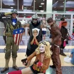 Captain American, Shredder, Tank Girl (I think), and a character I cannot place. Time to turn in my geek card...