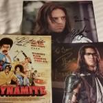 Autographs! Michael Jai White, Sebastian Shaw, and Booboo Stewart.