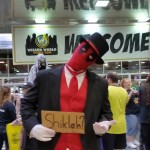 Slender Deadpool. Every other costume was just slightly less cool after I caught this picture.