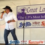 Tony Noren sang for the crowd at the Marquette Township Community Days