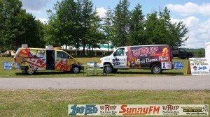 Setting up at the 2014 Marquette County Fair