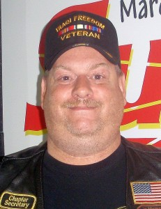 A.J. Bower with the Combat Veterans Motorcycle Association.