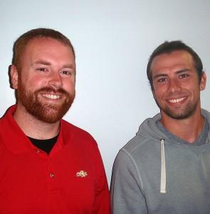 GLR Gwinn Play-By-Play Announcer Casey Ford and Gwinn Football Asst. Coach Dylan Jurasin.