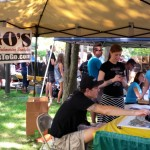 Togo's booth was a popular stop for the students at Fall Fest