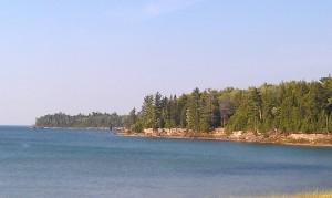 Lake Superior shoreline near Munising