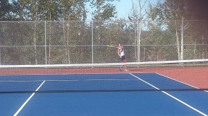 #3 Singles Allison Ring had a great match on Friday!