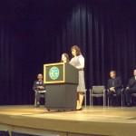 Katerina Klawes and Rachel Nye represented the Associated Students of NMU and the NMU Academic Senate