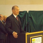 Rick Popp spoke as the Chair of the NMU Board of Trustees