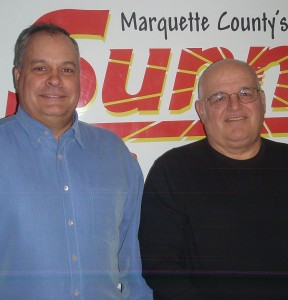 George LaBlonde III and Jim Provost with the Marquette County Veterans Alliance.