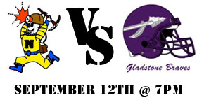 The Negaunee Miners take on the Gladstone Braves this Friday, September 12th
