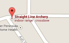 Find Straight Line Archery with Google Maps