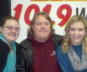 Kristen Halsey, Brian Sundberg and Eliisa Gladwell with the Rocky Horror Show at the VISTA in Negaunee.