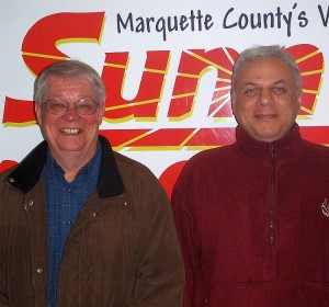 Marquette Mayor Bob Niemi and City Manager Bill Vajda.