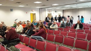 A lot of people were willing to give up their lunch hour to hear what the panel had to say.