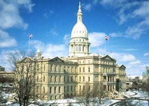 Michigan State Capitol in Lansing, MI.