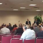Senator Casperson & Rep. Kivela were the moderators for the event