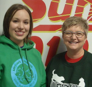 Steffani Baker and Ann Brownell of UPAWS.