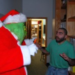 Eric Startled by the Grinch, just like last year!