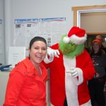 Grinch Pestering Amy, The Great Lakes Radio Traffic Director