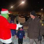 Grinch Promises to Behave and Shakes Sheriff Deputy's Hand
