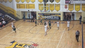 Negaunee Miner Boys Basketball vs Manistique Emeralds on Sunny.FM 01/30/15