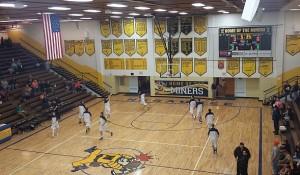 Negaunee Miner Boys Basketball vs Norway Knights on Sunny.FM 01/22/15