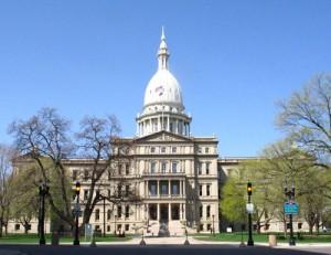 The Michigan Capitol in Lansing.