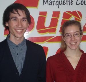John Scheibe and Amanda Woods.