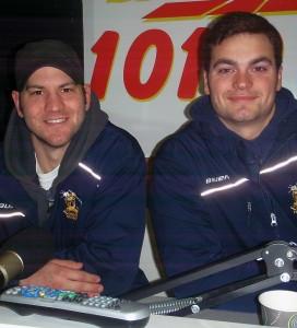 Negaunee Miner Hiockley Head Coach Josh Chapman and Asst. Coach Adam Kiddle