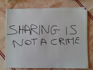 Sharing Is Not A Crime!