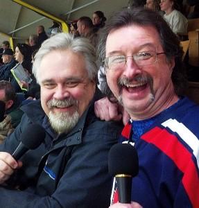 GLR's Walt Lindala & Dennis Harold at the 32nd Annual Pigs N' Heat Charity Hockey Game.