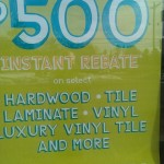 A $500 instant rebate? I think I need new flooring!
