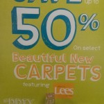 Save 50% on select new carpets!