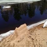 Dead River Ice Floes April 17 2015 02