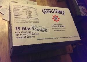 Gerolsteiner Mineral Water to Help me Drink more Fluids