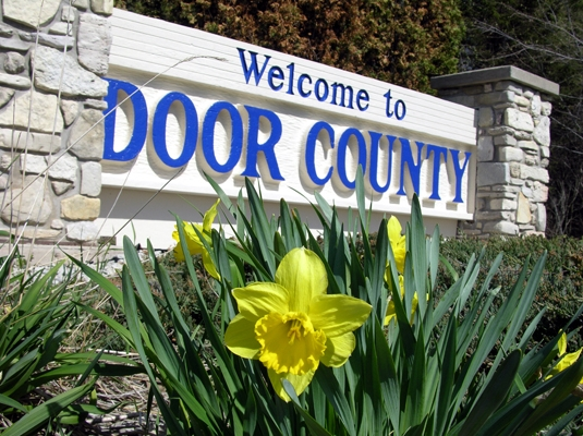 Door County Welcome Sign feature