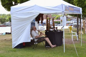 Vibhas Native Flutes at Art on the Rocks in the Lower Harbor, Marquette, MI 2015