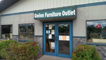 Gwinn Furniture Outlet is located between Family Dollar and Snyder Drug in beautiful downtown Gwinn.