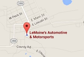 Call (906) 475-6595 for LeMoine's Automotive & Motorsports
