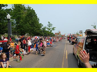 Marquette 4th of July Parade 2015 with GLR Staff